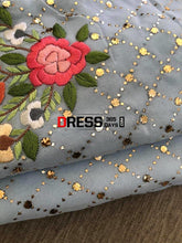 Load image into Gallery viewer, Powder Blue Kamdani & Parsi Gara Suit Suits