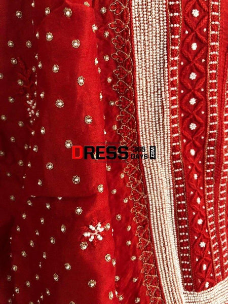 Pure Chanderi Silk Chikankari Suit With Beads Work Suits