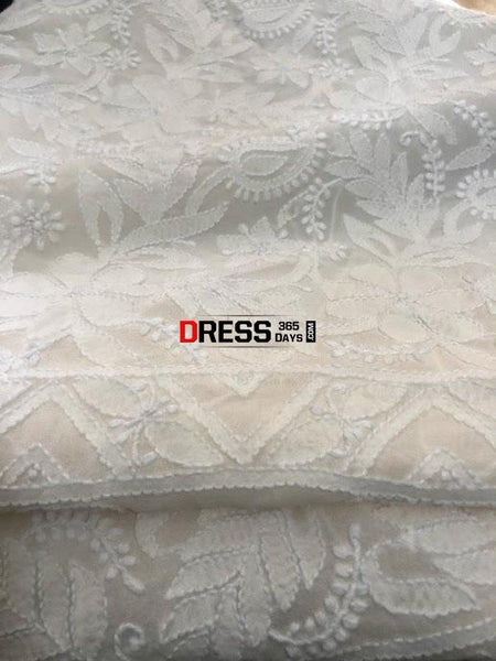 Pure Georgette Chikankari Suit Suits