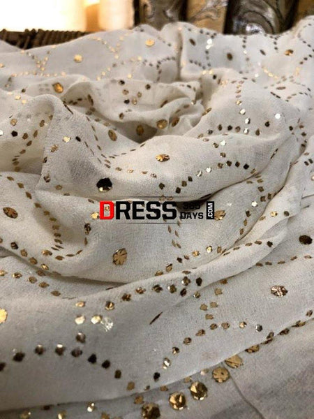 All Over Mukaish Dupatta Chikankari