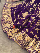 Load image into Gallery viewer, Purple & Gold Parsi Gara Dupatta