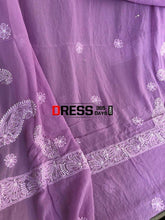 Load image into Gallery viewer, Purple Ring Mukaish Chikankari Suit Suits