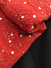 Load image into Gallery viewer, Red Mukaish Chikankari Saree