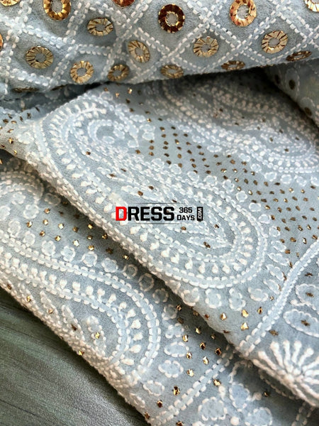 Ring Mukaish Chikankari Lehenga Skirt (Only Skirt)