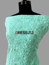 Load image into Gallery viewer, Sea Green Chikankari And Kamdani Suit Suits
