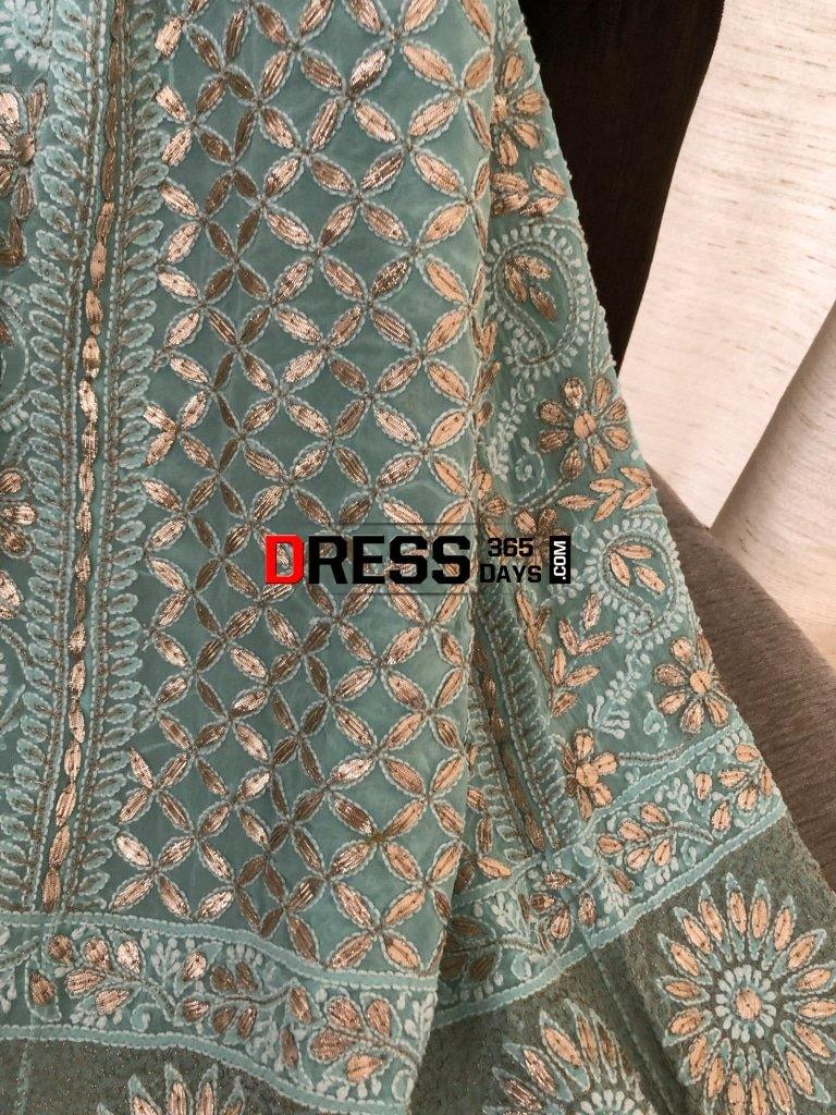 Sea Green Gota Patti Chikankari Lehenga Set