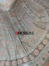 Load image into Gallery viewer, Sea Green Gota Patti Chikankari Lehenga Set