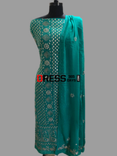 Load image into Gallery viewer, Turquoise Gota Patti Chikankari Suit Suits