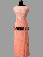Load image into Gallery viewer, Viscose Georgette Gota Patti and Beads Chikankari Suit