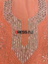 Load image into Gallery viewer, Viscose Georgette Gota Patti And Beads Chikankari Suit Suits