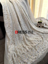 Load image into Gallery viewer, White Kamdani Chikankari Suit Suits
