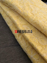 Load image into Gallery viewer, Yellow Lucknowi Chikankari Saree