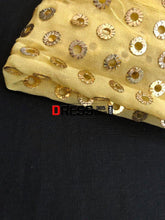 Load image into Gallery viewer, Yellow Ring Mukaish Anarkali Suit Chikankari