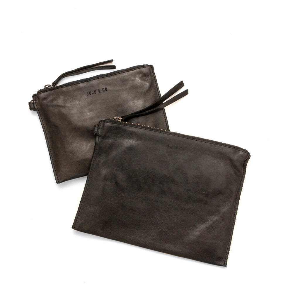 Small Flat Pouch - Black