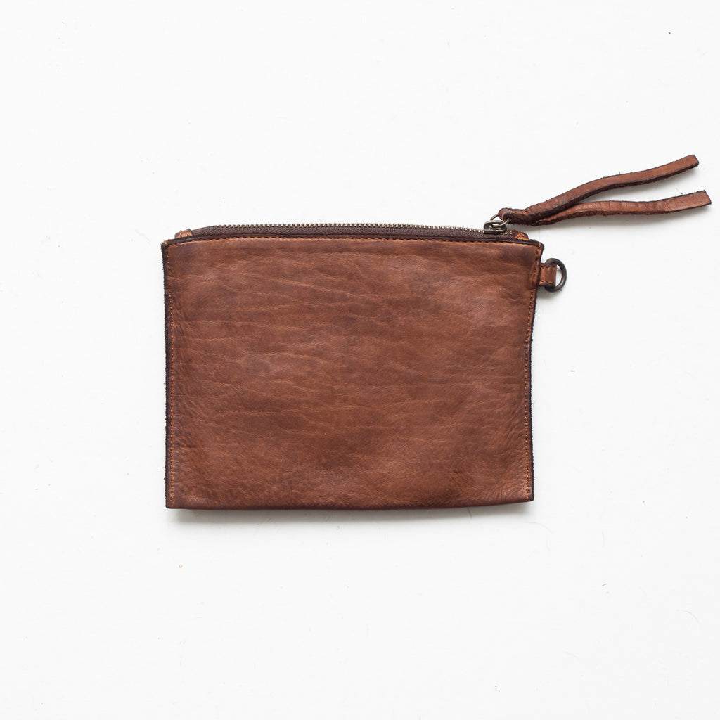 Small Flat Pouch - Cognac