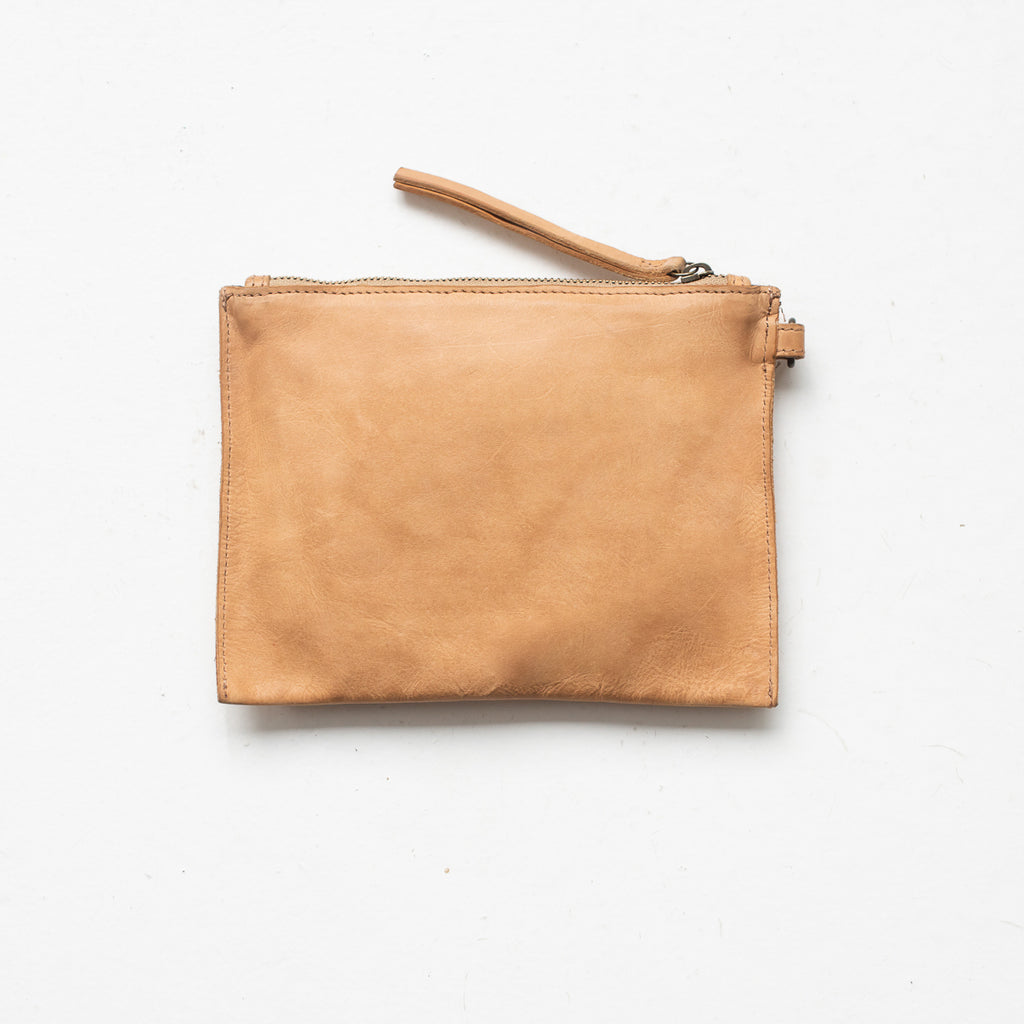 Small Flat Pouch - Natural