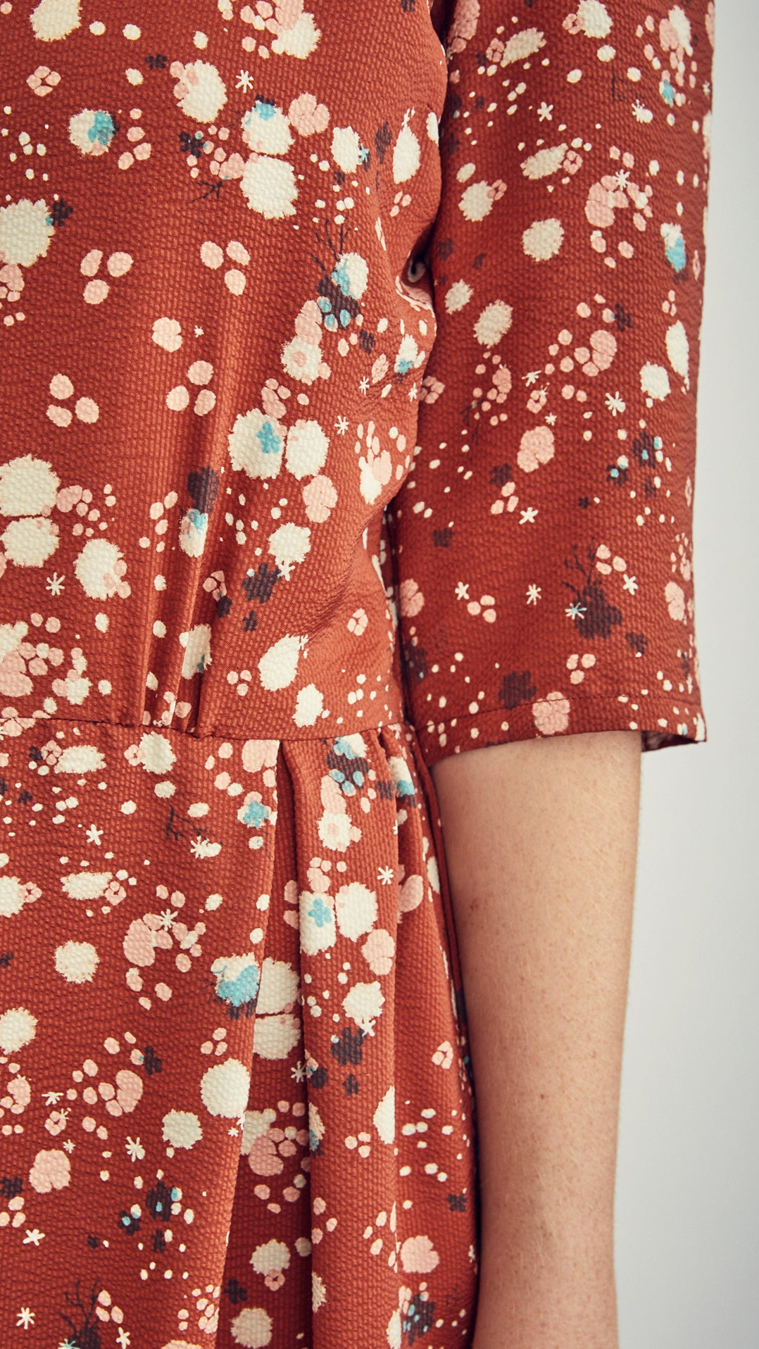 croquet dress / rust storm