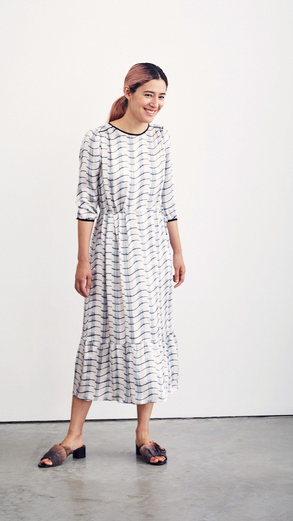 CLEMENTINE DRESS / curtain on eggshell