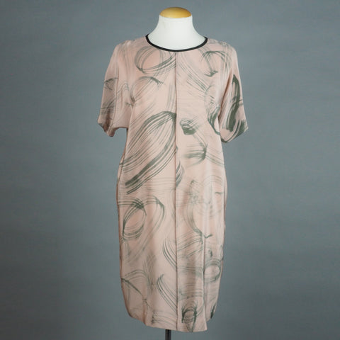 breezy dress in muddy rose 'scribble'