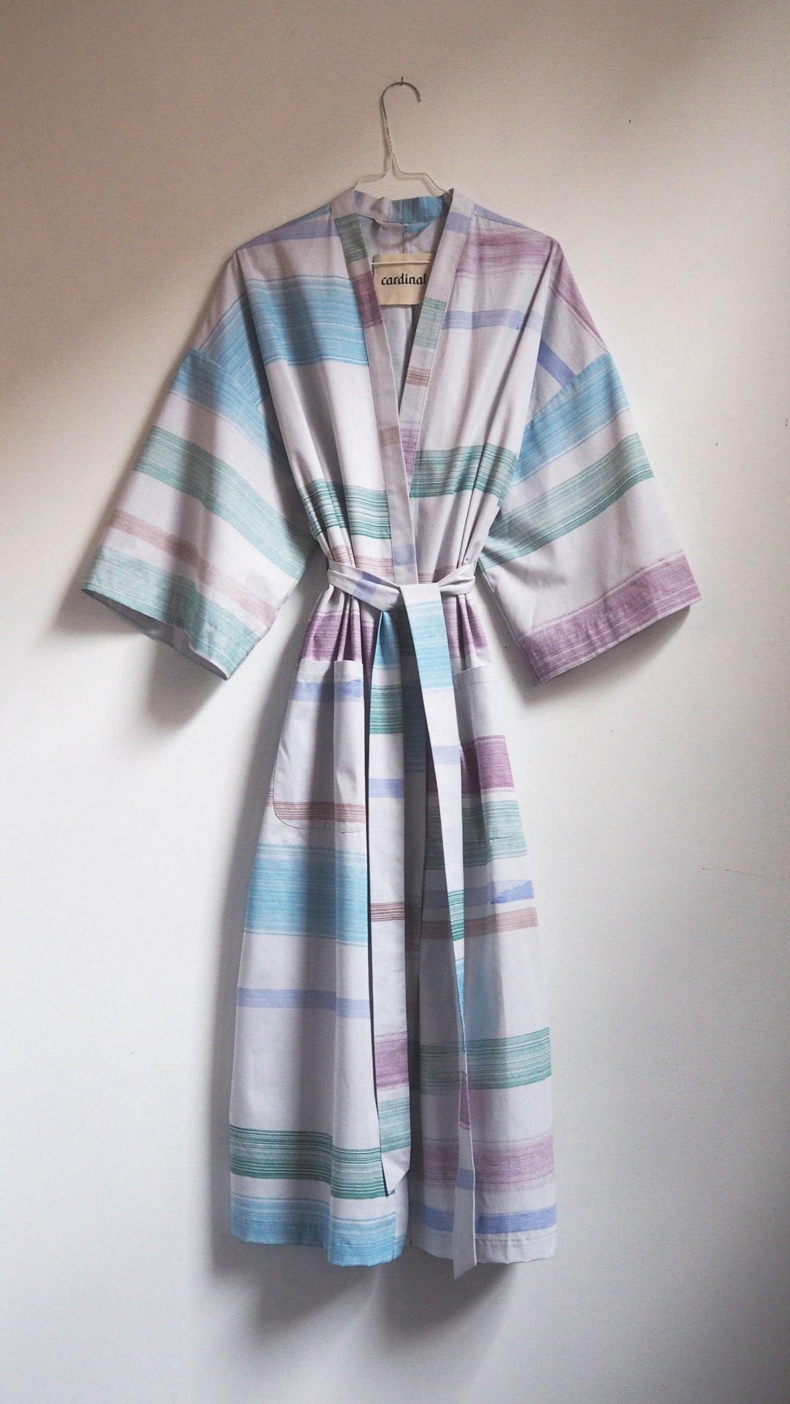 ROBE / stripes on grey