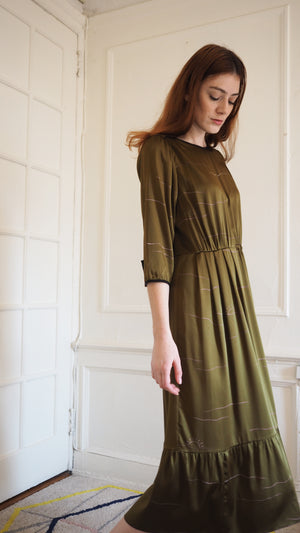 CLEMENTINE DRESS / sunset on olive