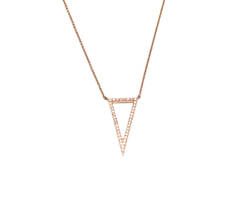 Ingenious Diamond Triangle Necklace