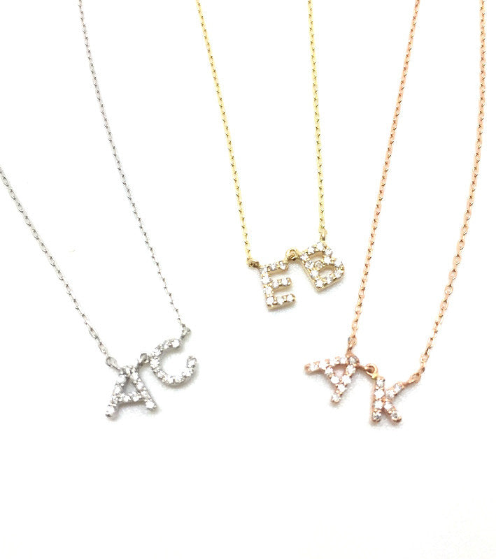 MC Petit Diamond Initial Necklace (Special Order)