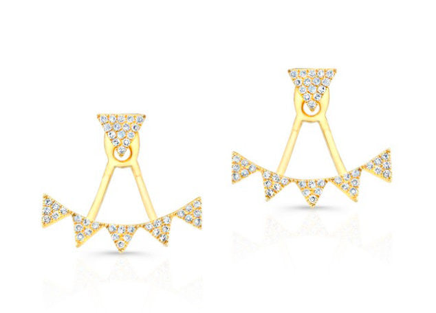 Victoria Triangle Earring + Jacket