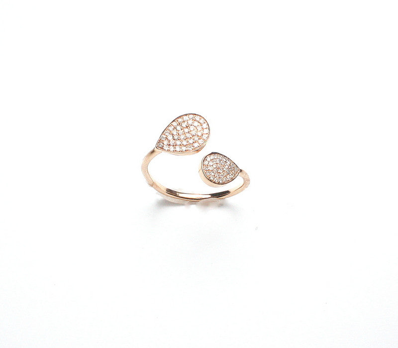 Large Pear Shape Wrap Ring