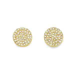 Large Diamond Disc Earrings (Special Order & Return)