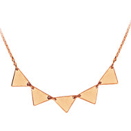 Triangle Streamline Necklace