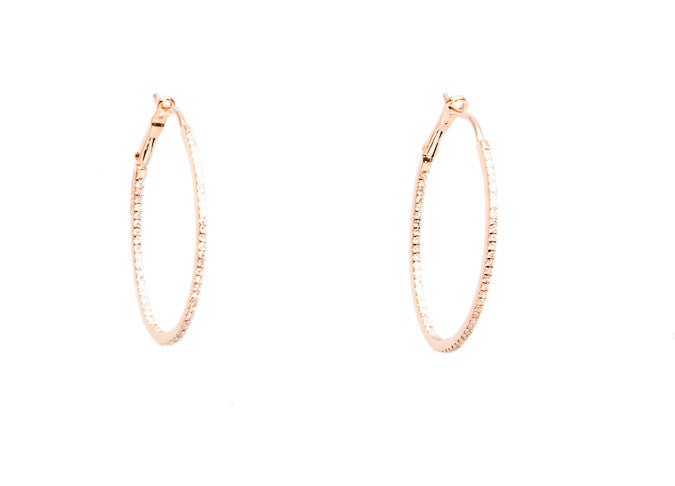Diamond Hoop Earrings (Special Order)