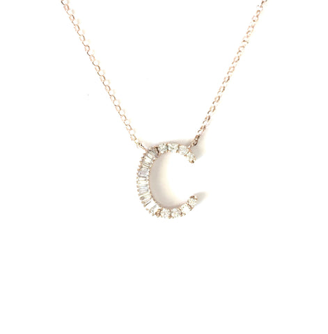 Art Deco Diamond Initial Necklace