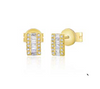 Tyler Baguette Diamond Earrings
