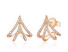 Flora Cuff Diamond Earrings