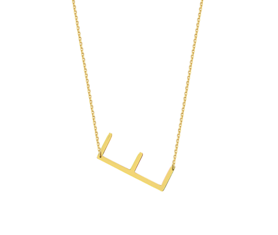 Small Nueva Block Letter Necklace