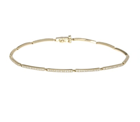 Diamond Tennis Linked Bracelet