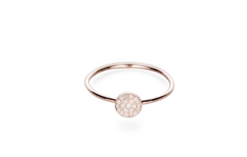 Pave Diamond Dot Ring