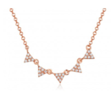 Cluster Diamond Triangle Necklace
