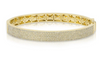 Pave Diamond Half Bangle