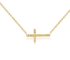 Pride Sideways Diamond Cross