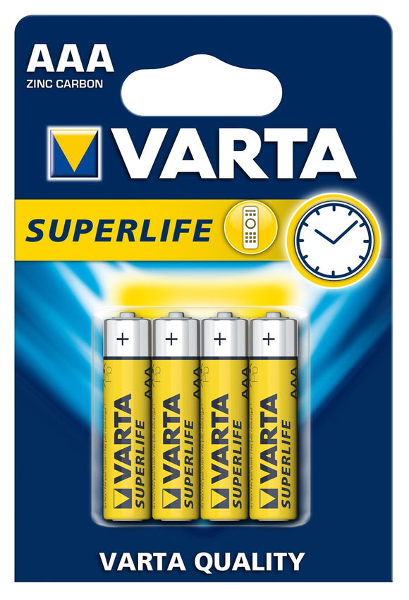 VARTA BATTERIE MINI STILO SUPERLIFE 4PZ