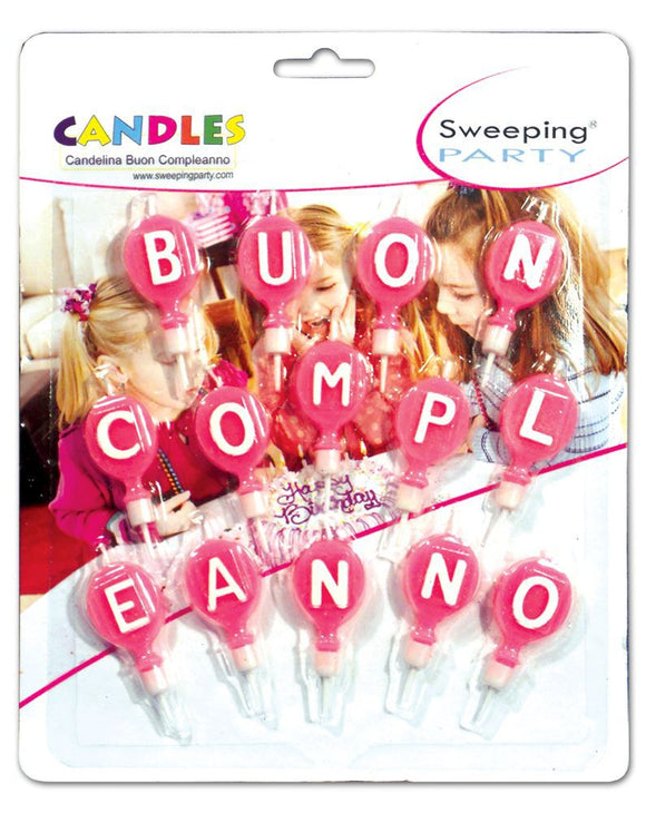 CANDELINE BUON COMPLEANNO ROSA