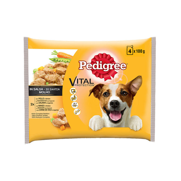 PEDIGREE IN SALSA CON POLLO 4X100 GR