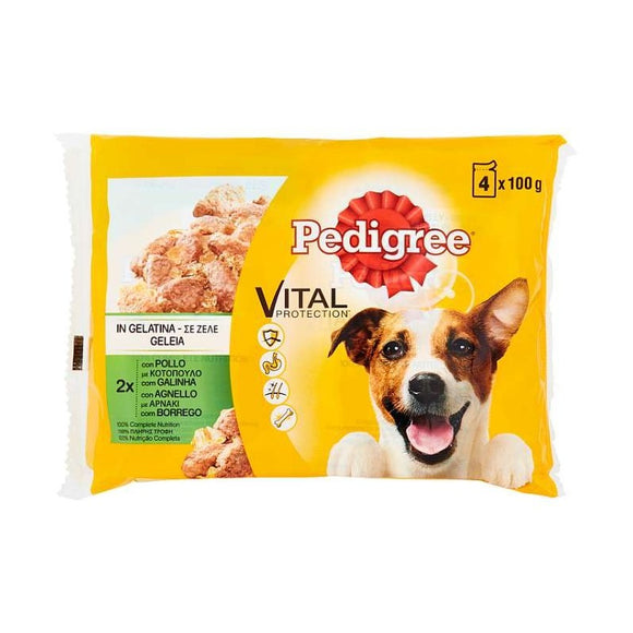 PEDIGREE IN GELATINA CON POLLO 4X100 GR
