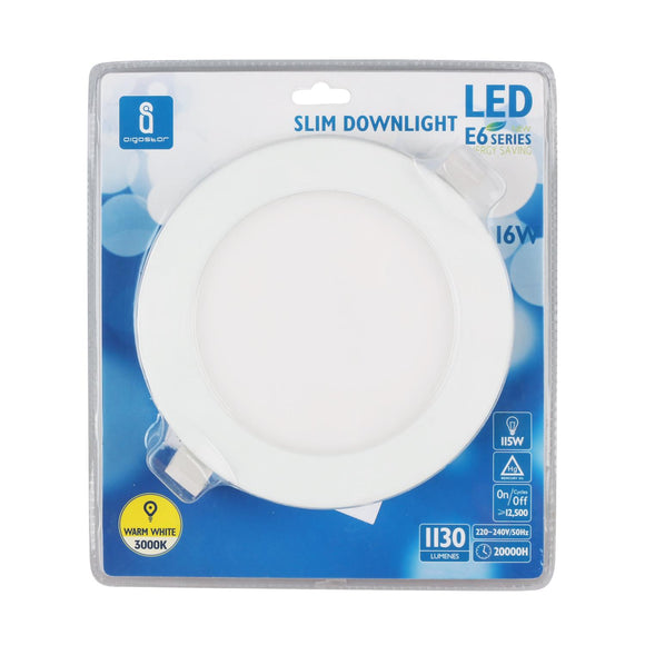 LED E6 SLIM DOWN LIGHT 24W 3000K(Cutout:225mm)/BLISTER