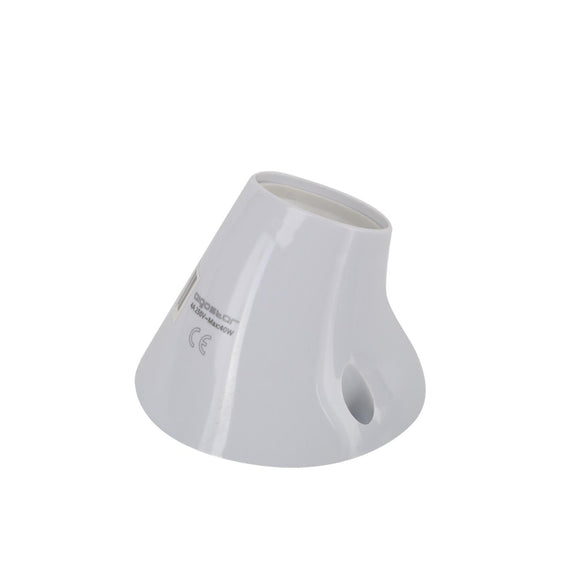 LAMP HOLDER PLASTIC 40W  CROOKED WHITE