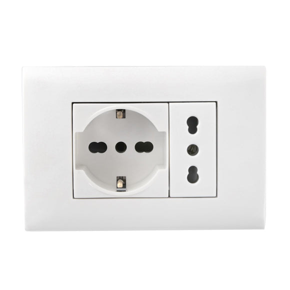 WALL COMBINATION SWITCH(SOCKET&SOCKET)