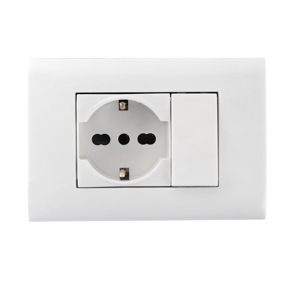 SWITCH AND SOCKET COMBINATION(ONE P30 SOCKET+ONE WAY SWITCH)