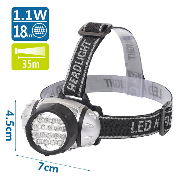 LED HEAD LAMP01 SILVER 18LED,use 3*AAA batteries